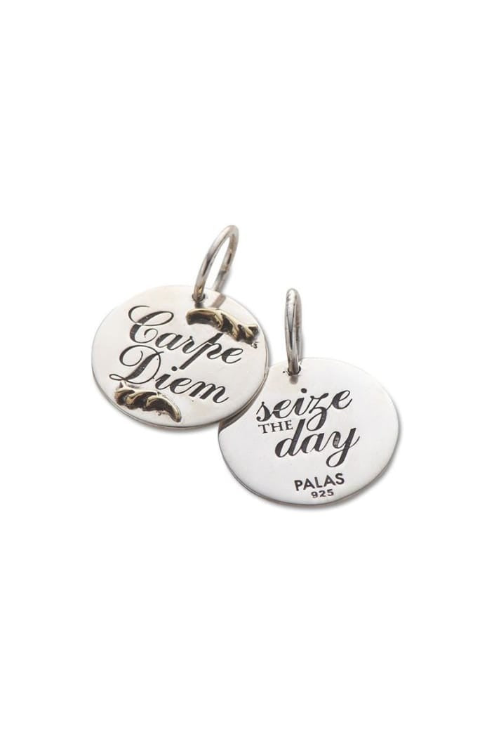 PALAS - CHARM CARPE DIEM SILVER BRASS DOUBLE SIDED - Tempted Kensington