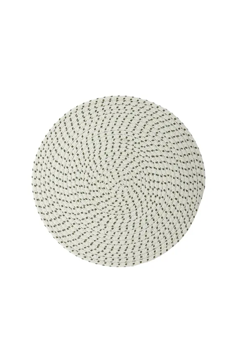 CASA - TESS ROUND PLACEMAT - WHITE & NAVY - Tempted Kensington