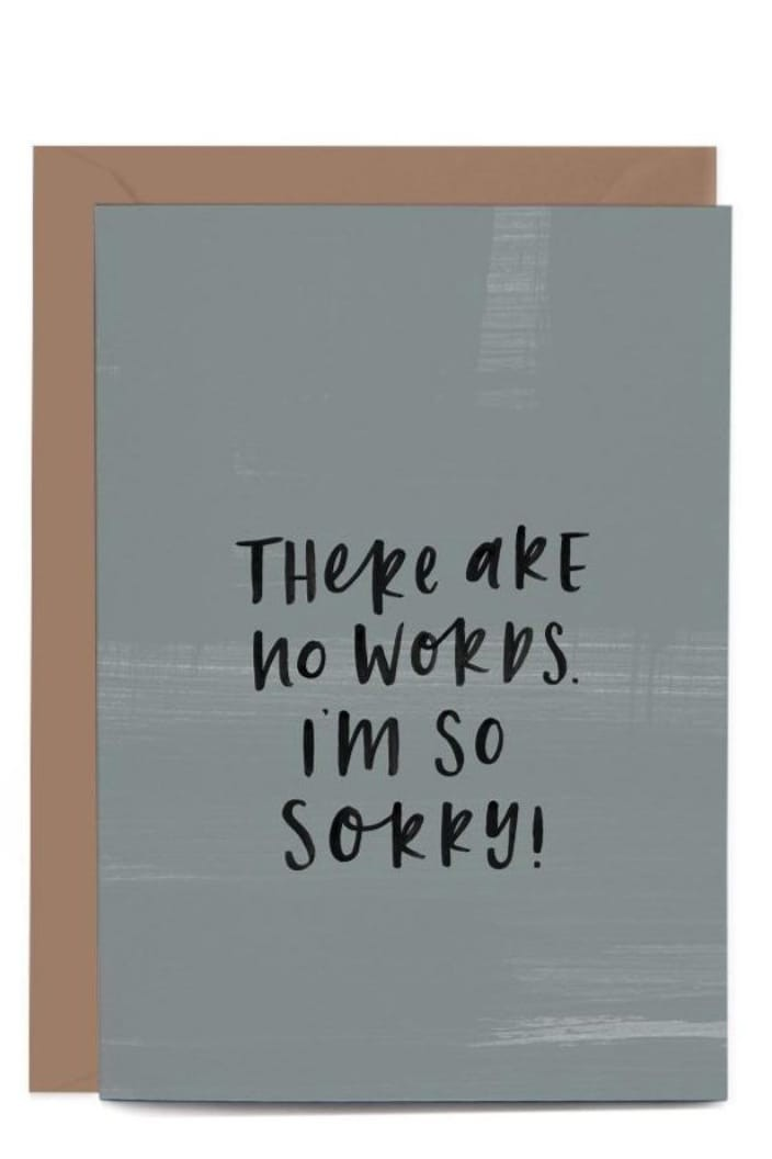 IN THE DAYLIGHT - THERE ARE NO WORDS - GREETING CARD - Tempted Kensington