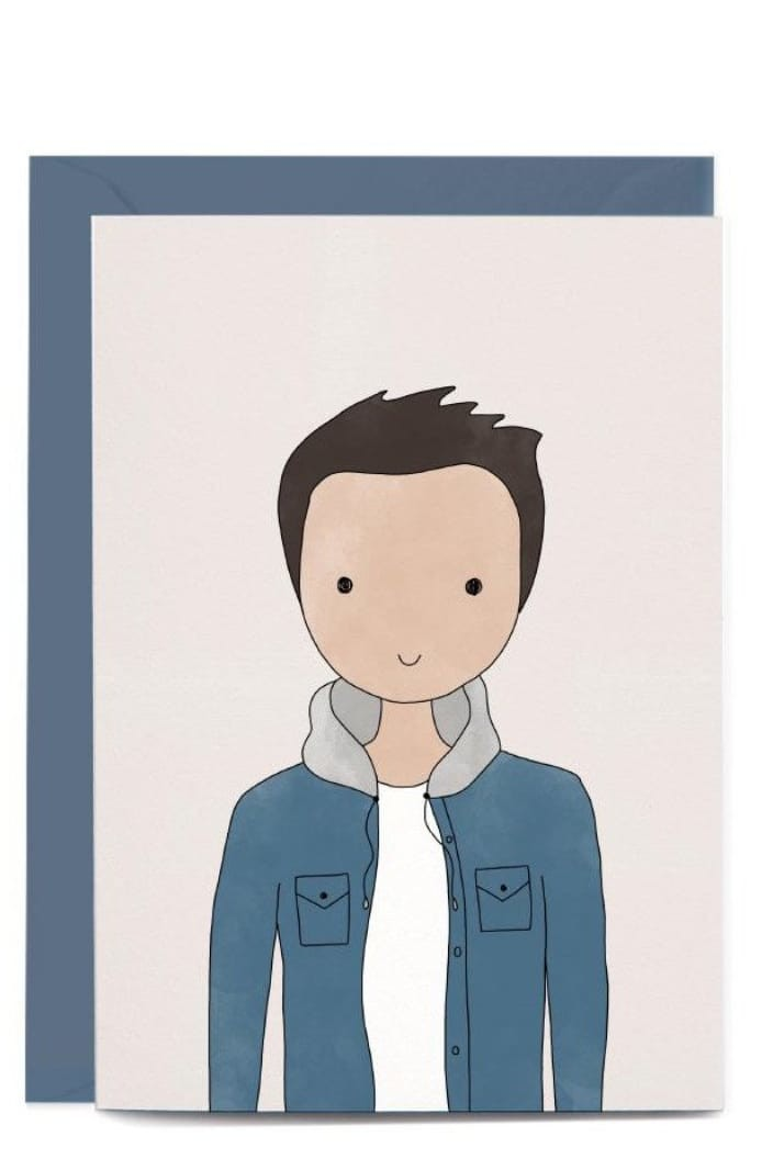IN THE DAYLIGHT - TYLER CHARACTER PORTRAIT - GREETING CARD - Tempted Kensington
