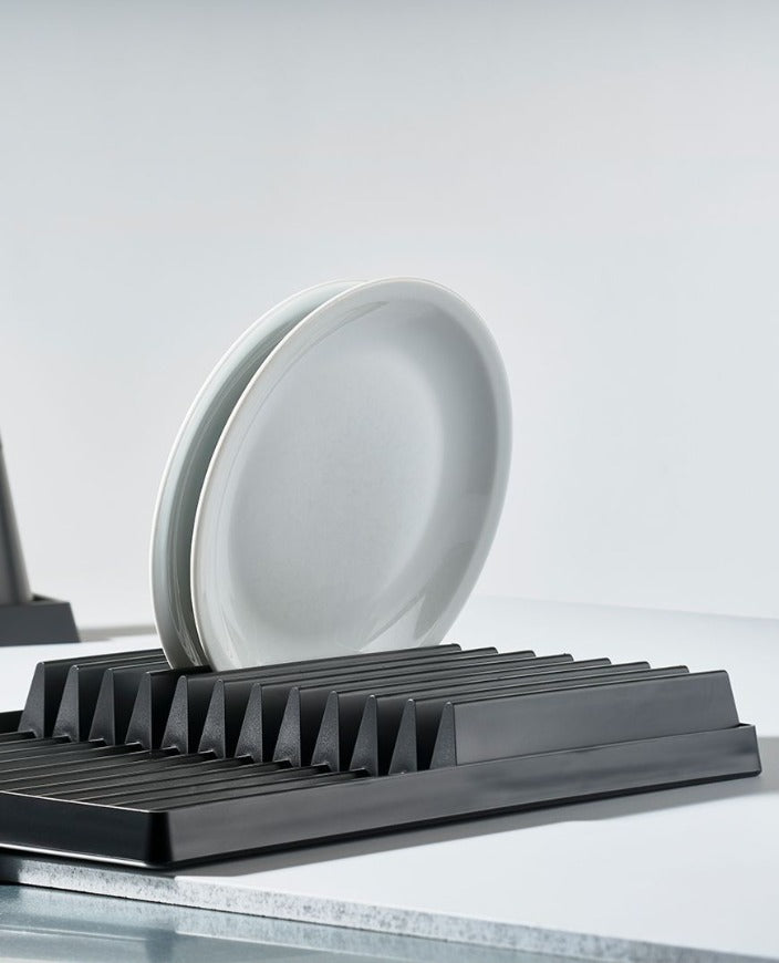 ZONE DRY ART DISH RACK - 44X32XH6CM - MATTE BLACK - Tempted Kensington