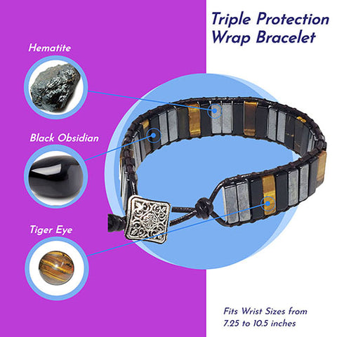 Triple Protection Wrap Bracelet