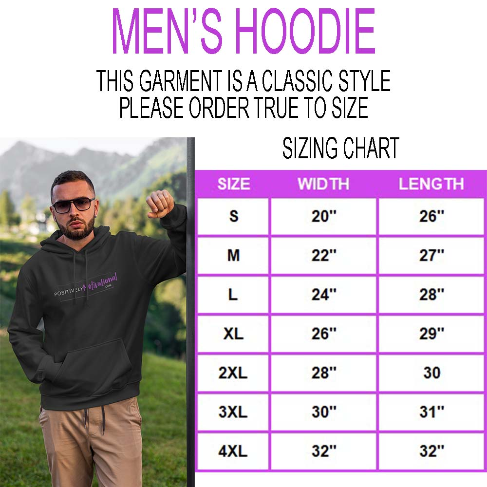 Men's Hoodie Sizing Chart