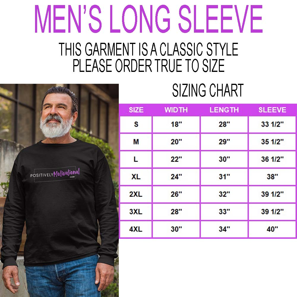 Men's Long Sleeve Sizing Chart