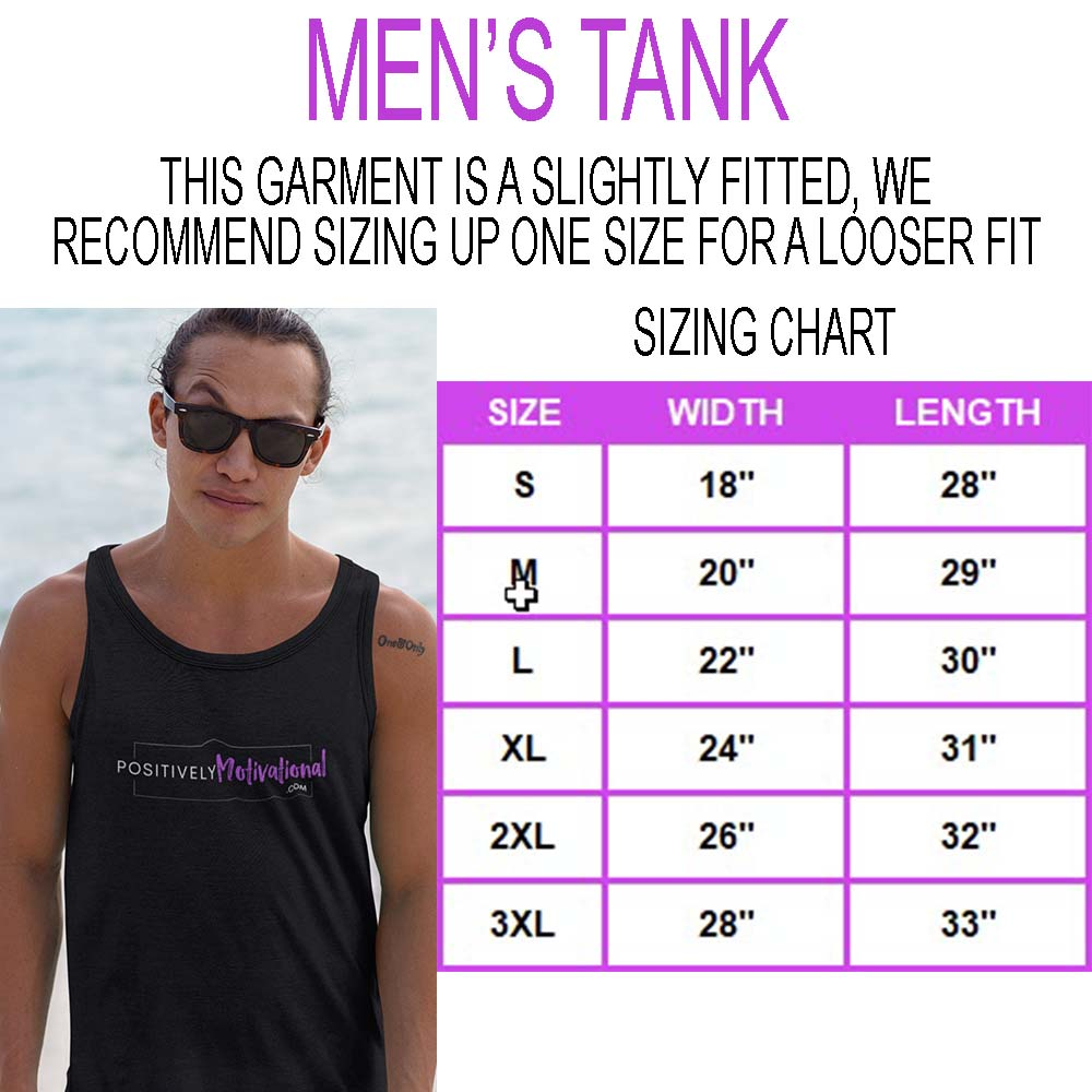 Men's Tank Sizing Chart