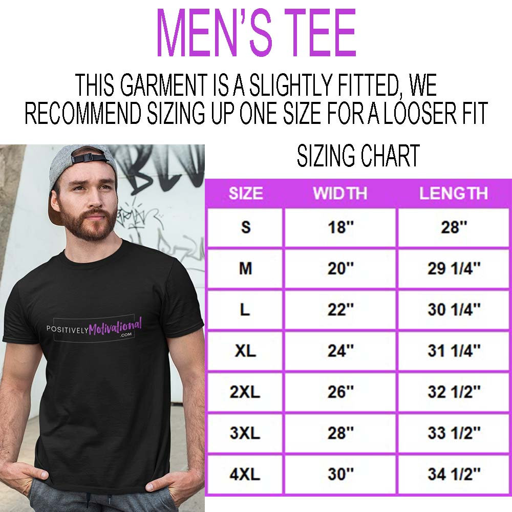 Men's Tee Sizing Chart