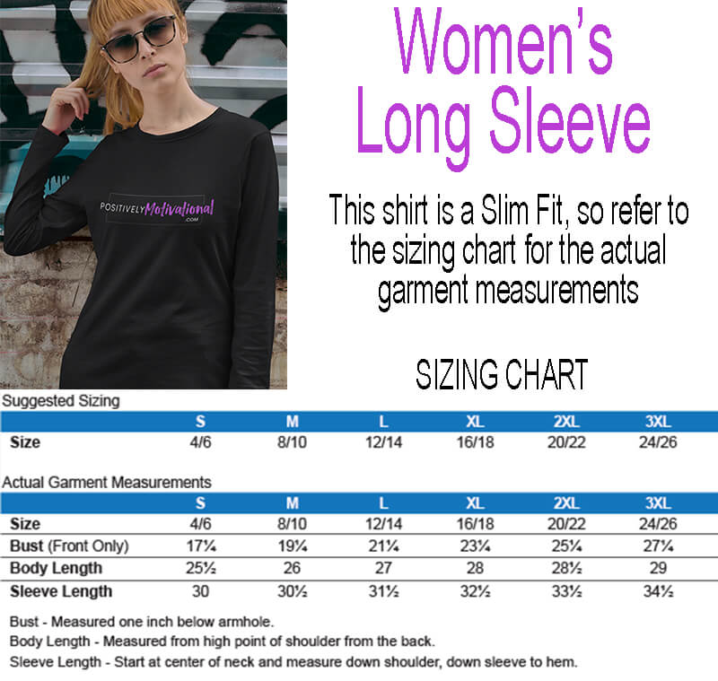 Women's Long Sleeve Tee Sizing Chart