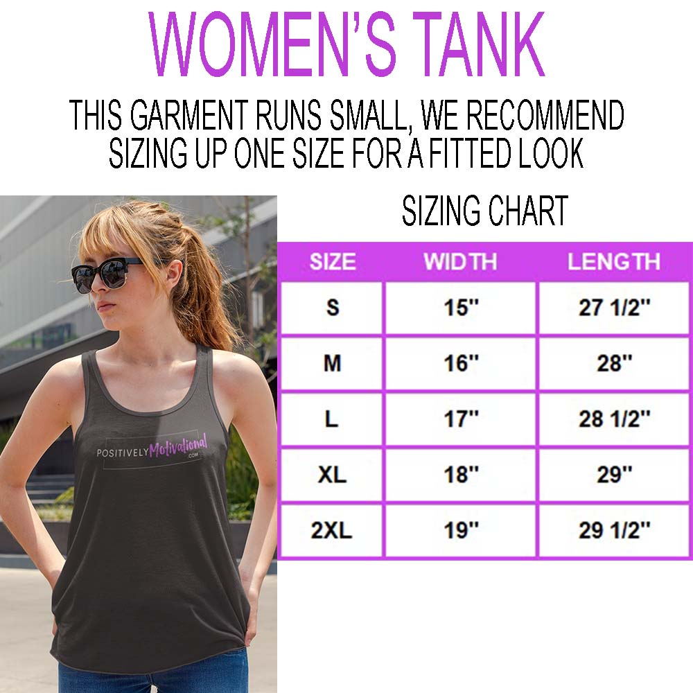 Women's Tank Sizing Chart