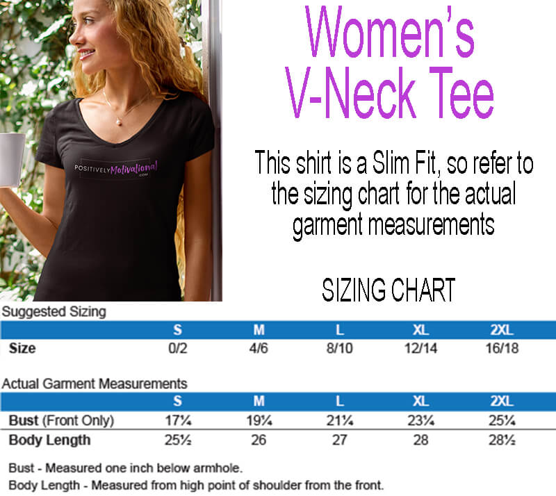 Women's V-Neck Tee Sizing Chart