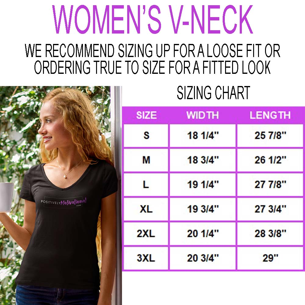 Women's V-Neck Sizing Chart