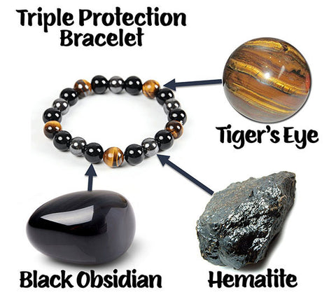 Triple Protection Bracelet Stones