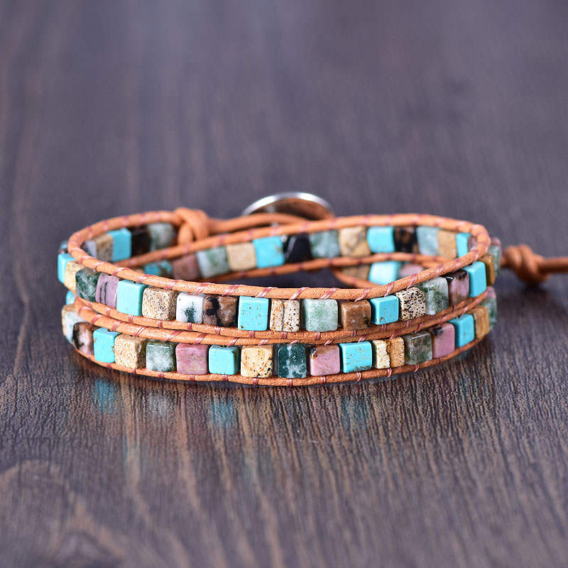 Earth-Tones 2-Wrap Bracelet