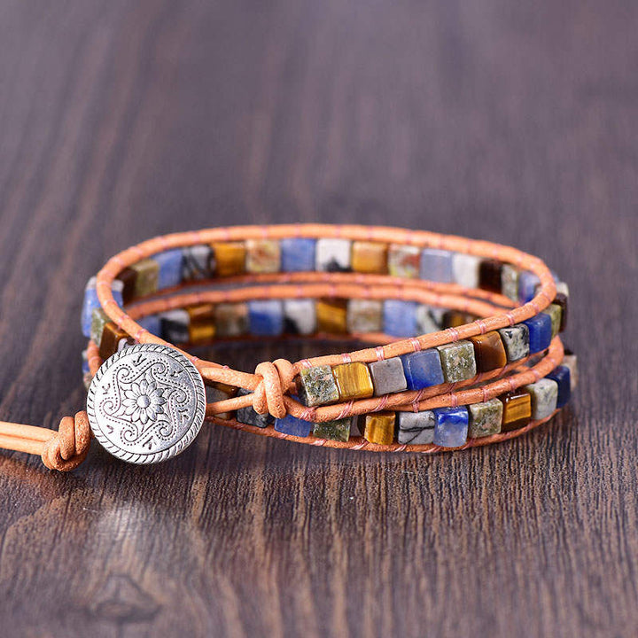 Mixed Stone 2-Wrap Bracelet