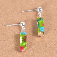 Funky Jasper Sterling Silver Drop Earrings
