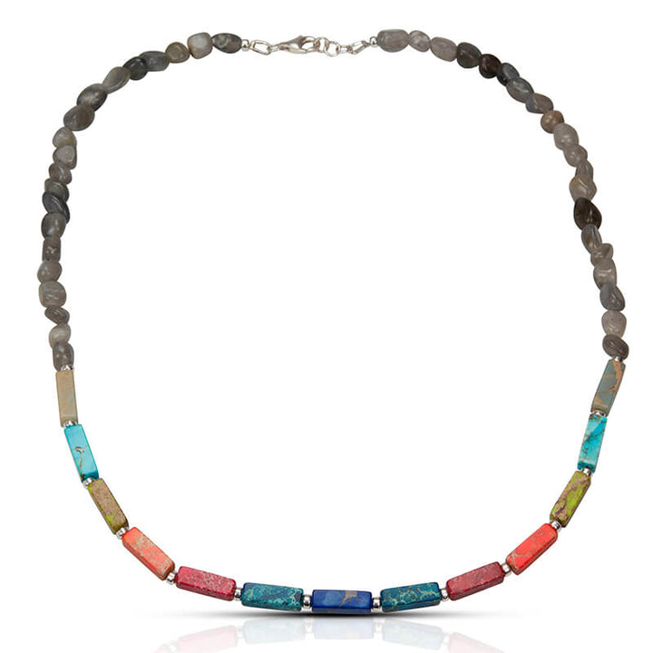 Multi-Color Jasper Labradorite Necklace