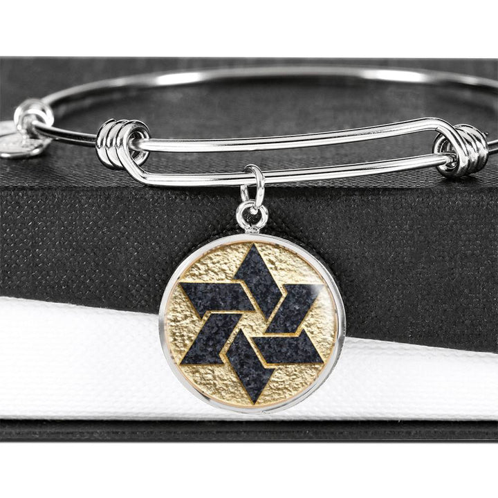 Stone Style Star of David Bangle Bracelet