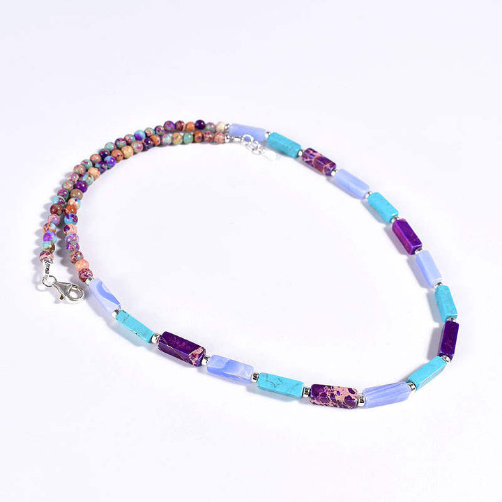Blue-Purple Jasper Necklace
