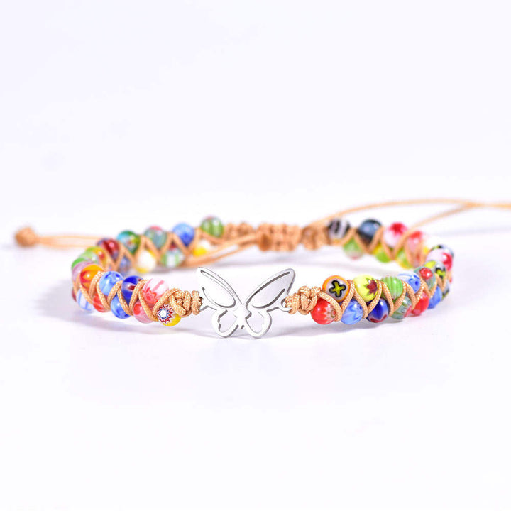 Multi-Color Butterfly Vegan Adjustable Bracelet