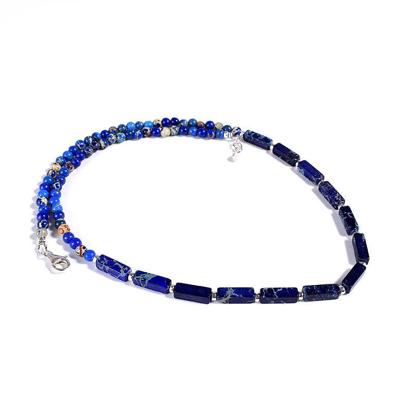 Deep Blue Jasper Necklace