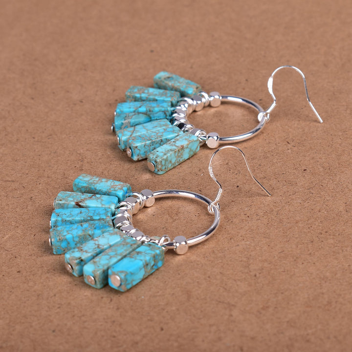 Light Blue Jasper Sterling Silver Earrings