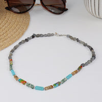 Mixed Stone and Labradorite Necklace