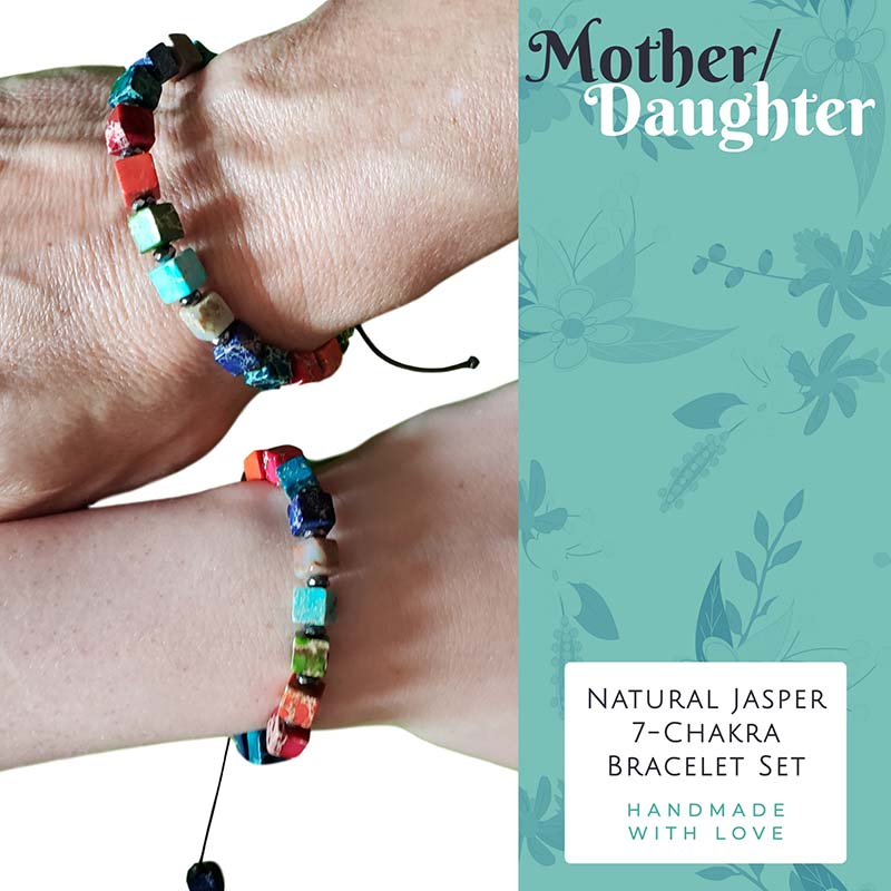 Thin Multi-Color Jasper Adjustable Bracelet