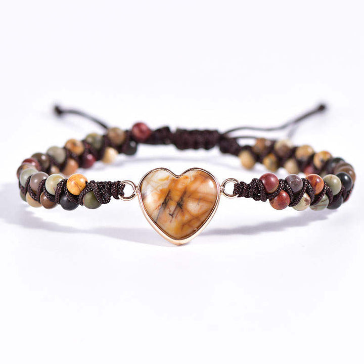 Picasso Stone Heart Vegan Adjustable Bracelet
