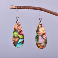 Funky Jasper Teardrop Earrings