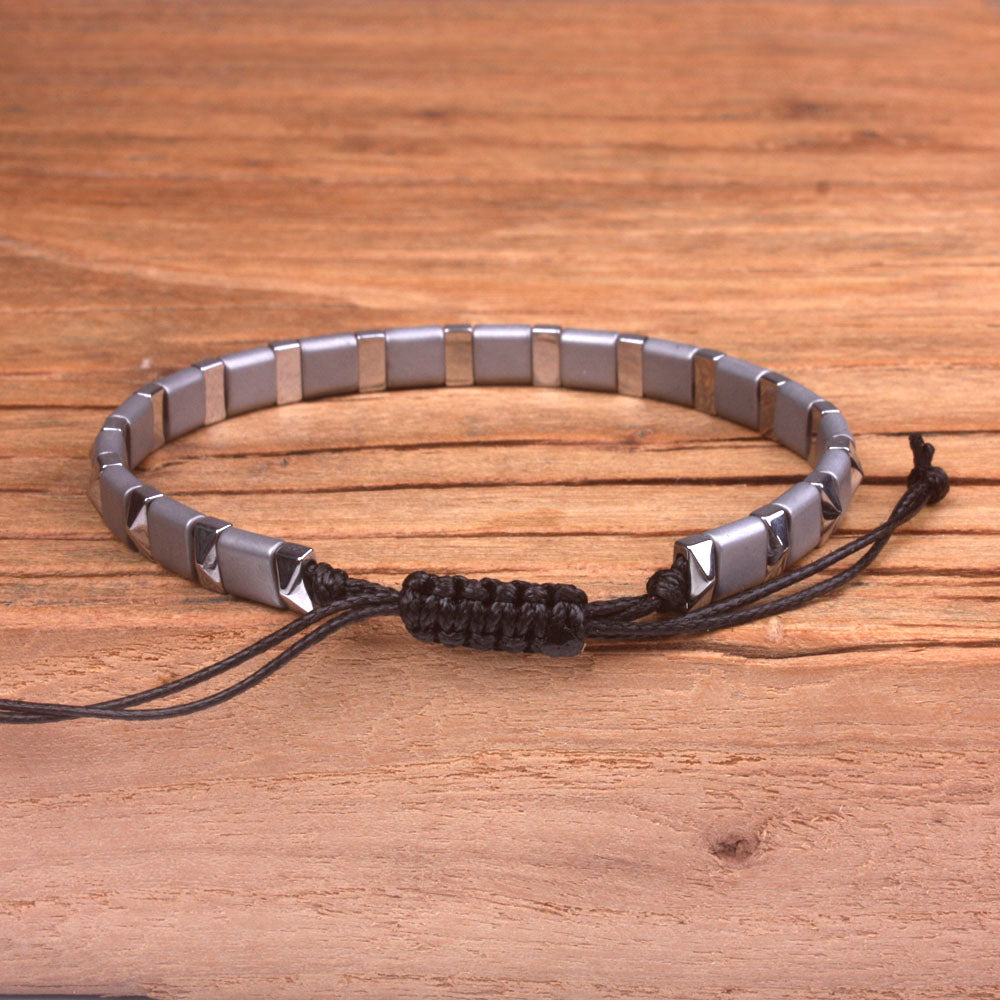 Metal Bead Vegan Adjustable Bracelet
