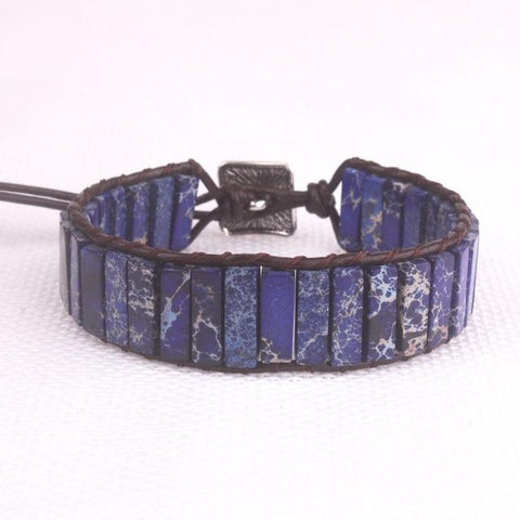 Deep Blue Natural Stone Positivity Bracelet