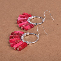 Red Jasper Sterling Silver Earrings