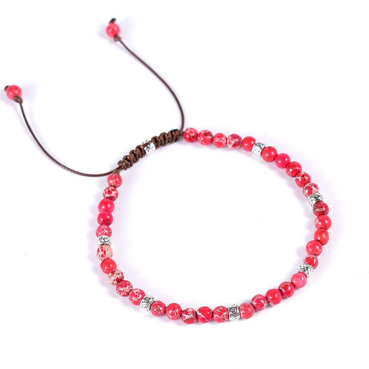 Red Jasper Vegan Adjustable Bracelet