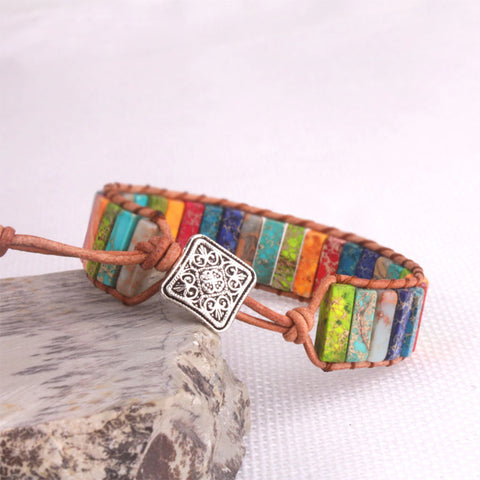 Multi-Color Natural Stone Positivity Bracelet