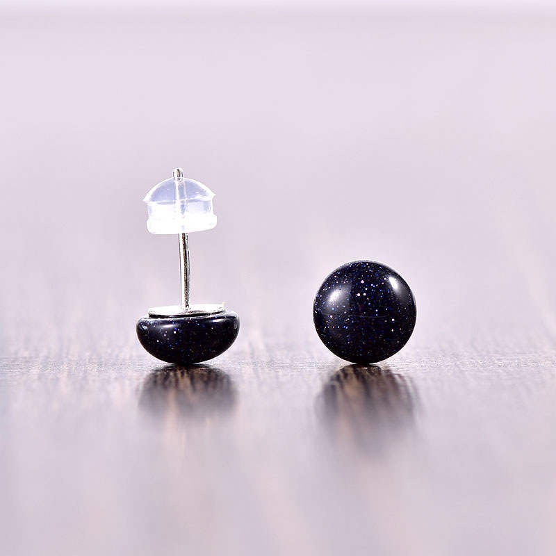 Blue Sandstone Stud Earrings