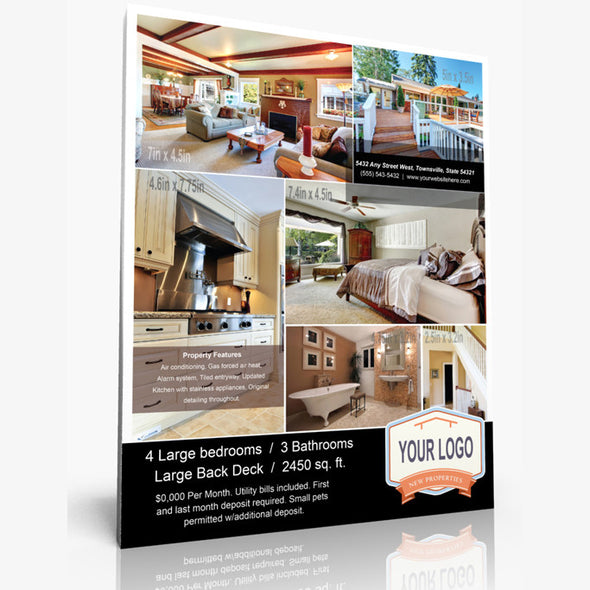 12 x 15 Real Estate Sign Flyer
