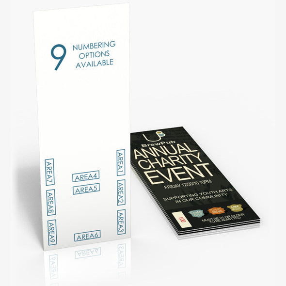 "5.5"" x 2"" Event Tickets"