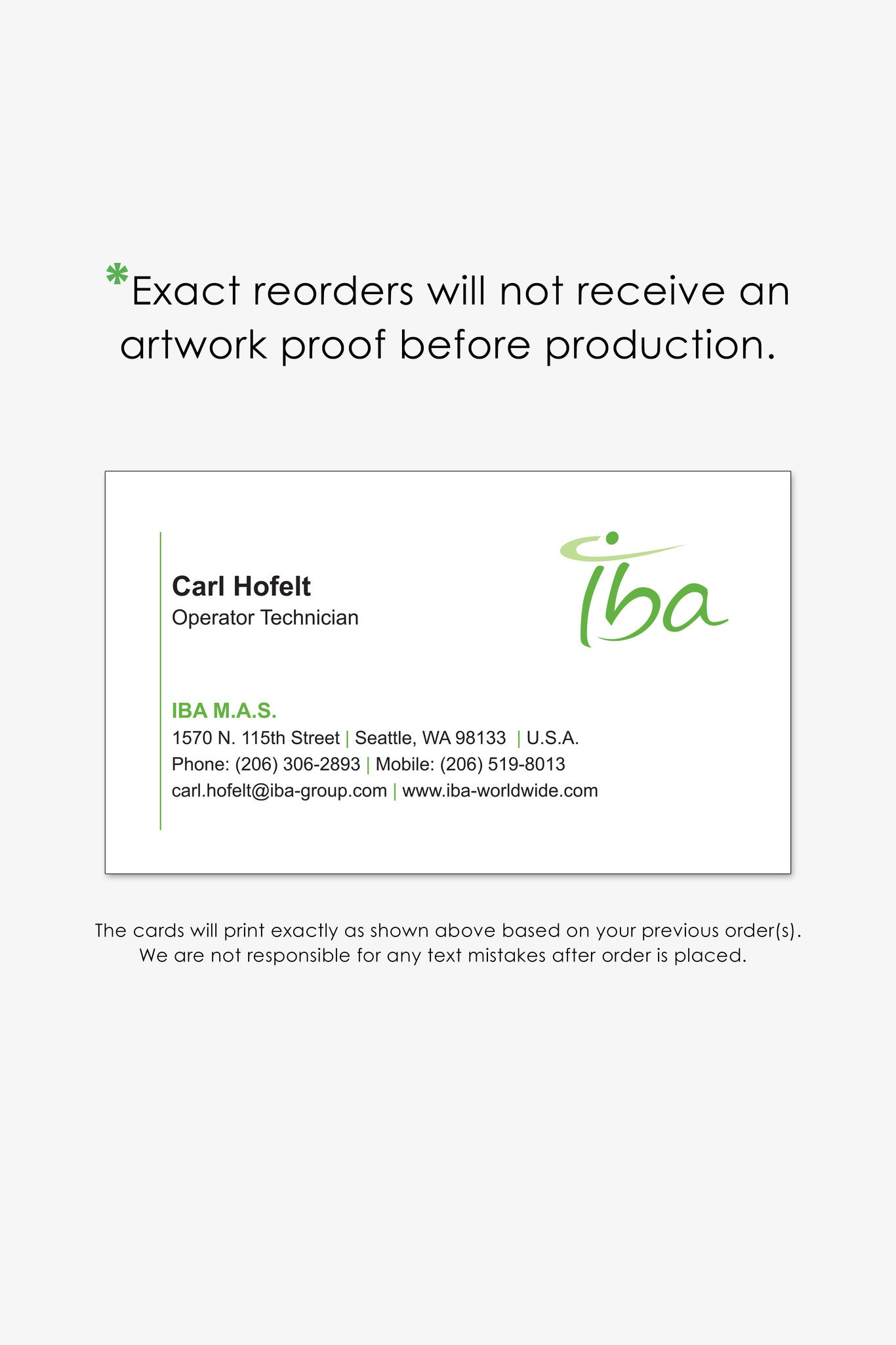 Iba seattle business card reorder page endless prints seattle business cards colourmoves
