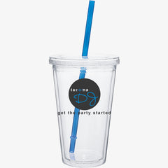Clear Cold Drink Tumbler (16oz)