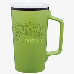 Tall Striped Drink Mug (18oz)