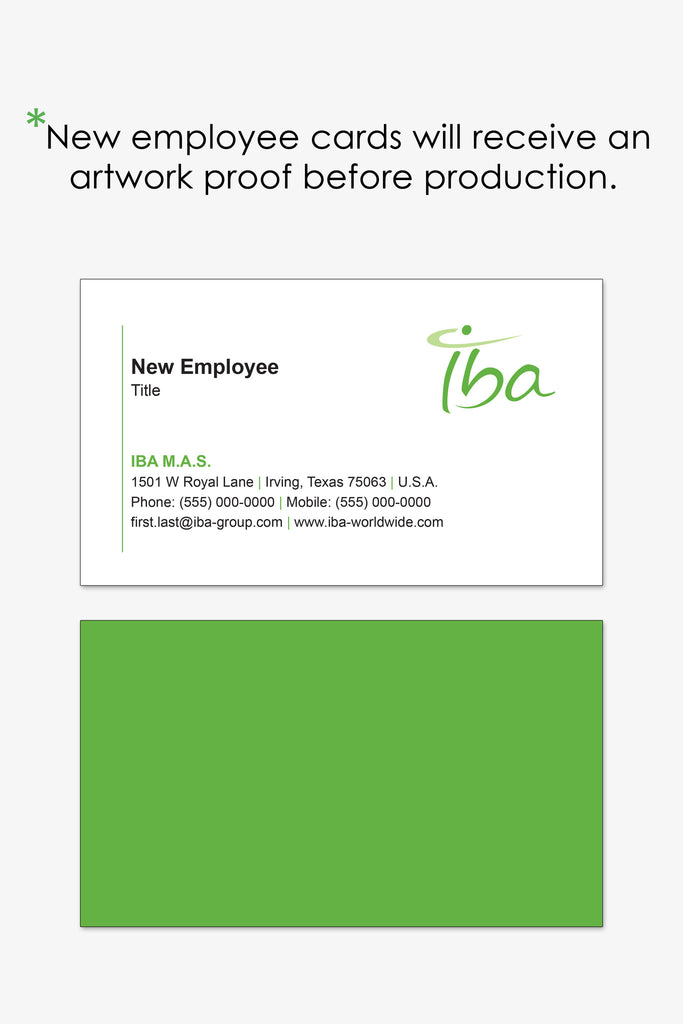 IBA Dallas business card reorder page | Endless Prints