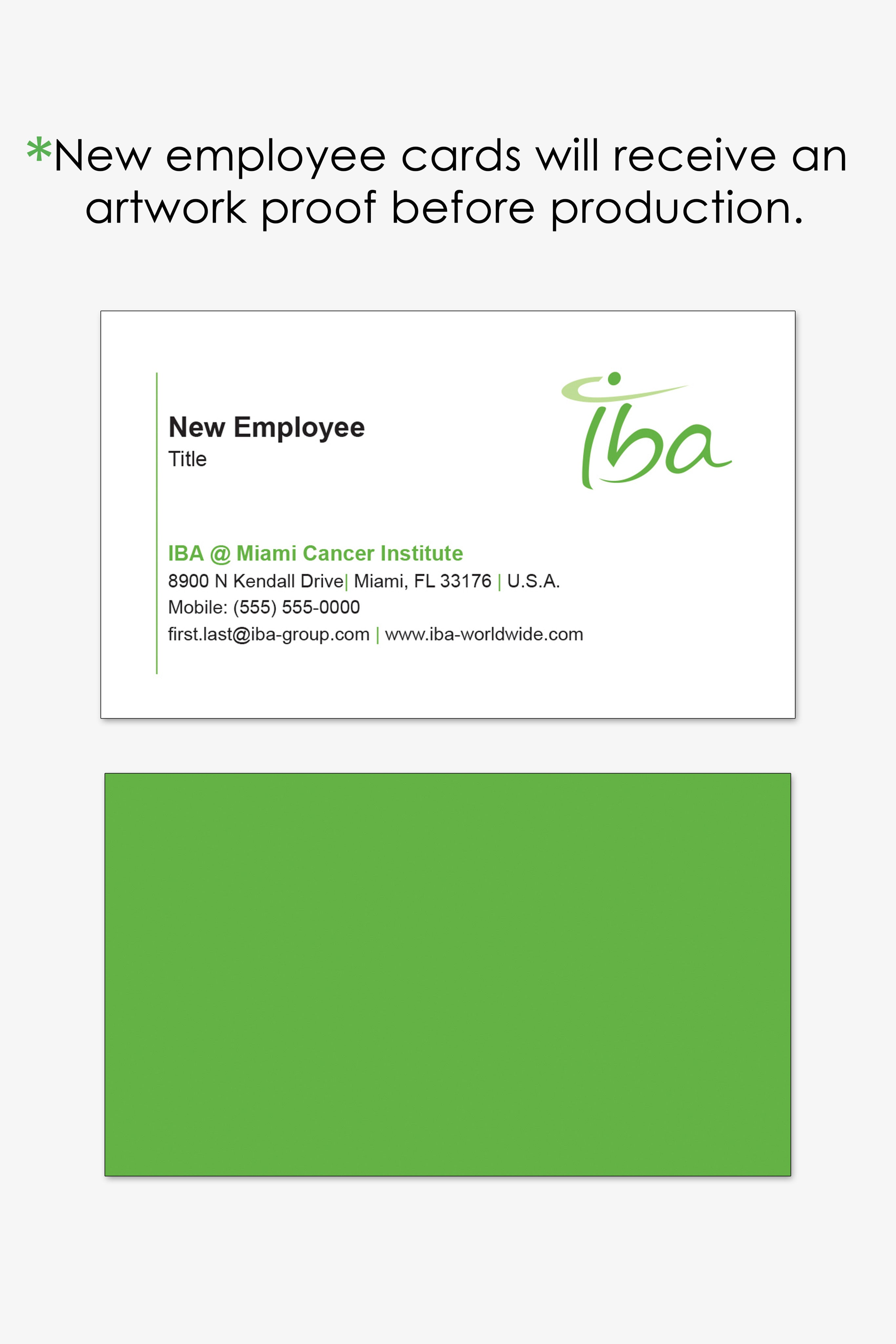 IBA Miamia business card reorder