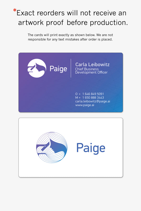 Paige Business Cards