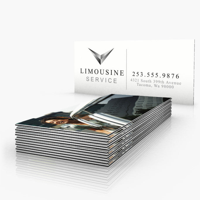 Black striped edge business cards endless prints 32pt uncoated black striped edge business cards reheart Image collections