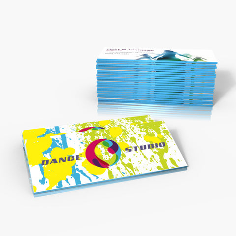 Thick Colored Edge Business Cards