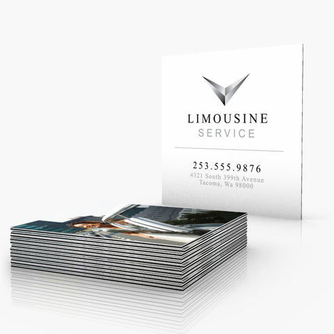 Thick Black Striped Edge Business Cards