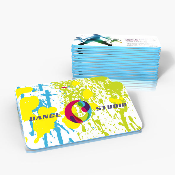 32pt Silk Colored Edge Business Cards