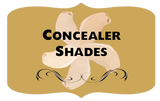 Luxuria Cosmetics Concealer shade swatches
