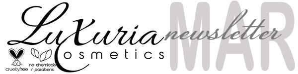 Luxuria Cosmetics Newsletter Header March