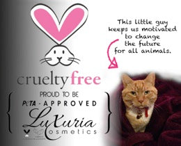 Luxuria Cosmetics PETA approval