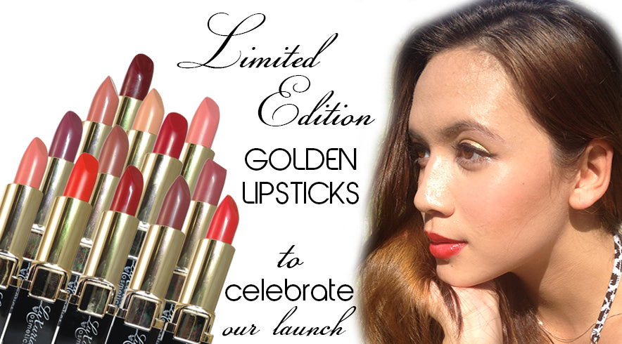 Luxuria Cosmetics Slideshow Golden Lipsticks